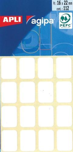 Agipa Etui 112 Etiket.Wit 16X22mm