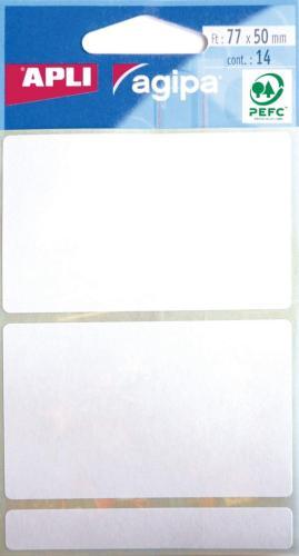 Agipa Etui 14 Etiket.Wit 50X77mm