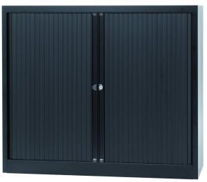 bisley roldeurkast zwart ft 103 x 120 x 43 cm h x b x d kopen dbs office supplies. Black Bedroom Furniture Sets. Home Design Ideas