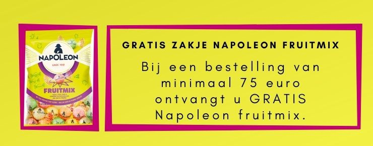 Gratis zakje Napoleon fruitmix