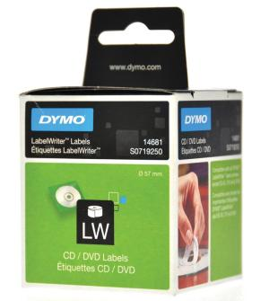Dymo 160 CD/DVD etiketten