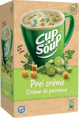Cup a soup prei creme + korst pak van 21
