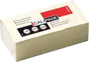 Calipage Memo Notes, 38 x 51 mm, Geel, p