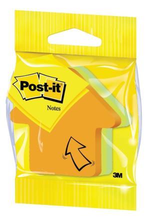 Post-it vormgestanste notes stansvorm: p