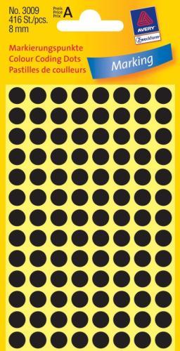 Zweckform kantooretiket rond 8mm zwart (