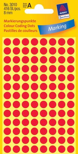 Zweckform kantooretiket dia 8mm rood , 1