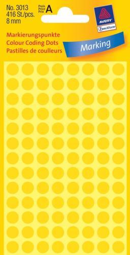 Zweckform kantooretiket dia 8mm geel, 10