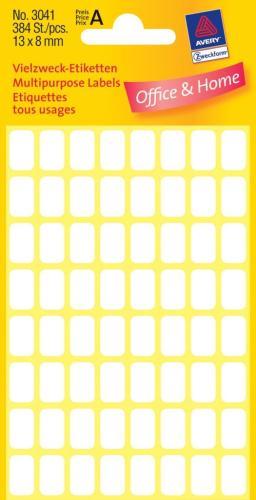 Zweckform kantooretiket 13x8mm wit, 10 v