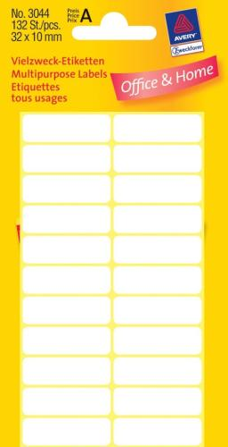 Kantooretiket 32x10mm wit (10)