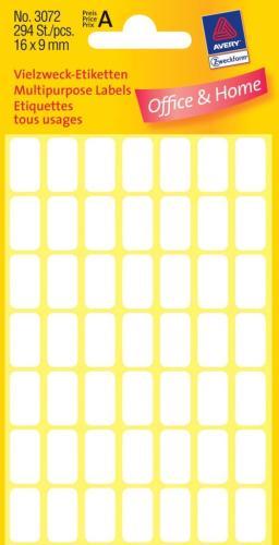 Zweckform kantooretiket 16x9mm wit, 10 v