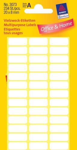 Zweckform kantooretiket 20x8mm wit, 10 v