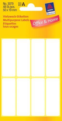 Zweckform kantooretiket 50x19mm wit, 10