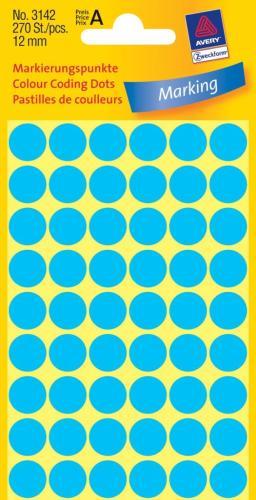 Zweckform kantooretiket rond 12 mmblauw
