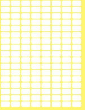 Avery Zweckform 3306 mini etiketten ft 13 x 8 mm (b x h), 3.712 etiketten, wit