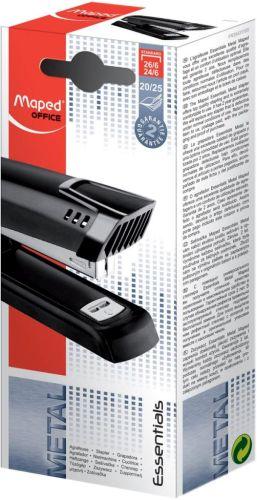 Maped nietmachine Essentials Metal half strip 24/6-26/6 zwart