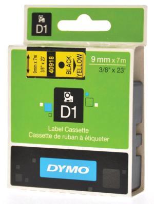 Dymo D1 tape 9 mm. x 7 m. zwart/geel