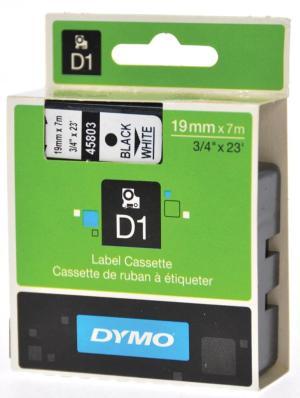 Dymo D1 tape 6 mm x 7 m, zwart/wit