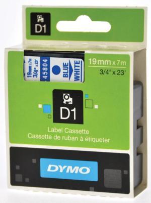 Dymo Tape D1 19mm x 7m, blauw /wit