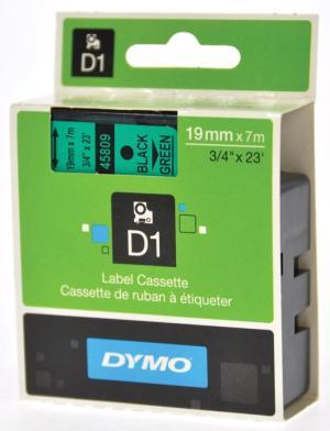 Dymo D1 tapes ft 19 mm x 7 m, zwart/groe