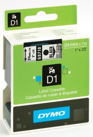 Dymo Tape D1 24 mm x 7 m, zwart optransp