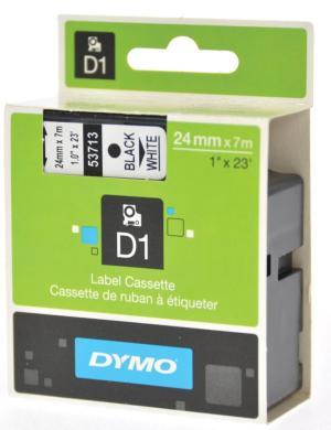 Dymo D1 tape 24 mm x 7 m, zwart/wit