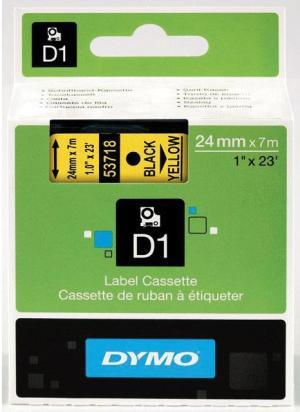 Dymo D1 permanente polyestertape 24mm, z
