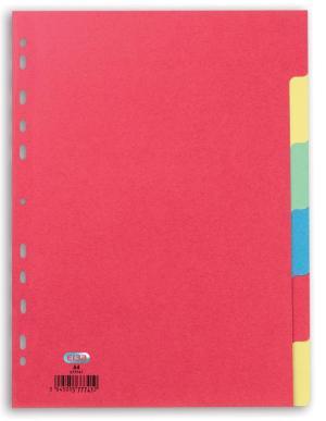 Elba Tabbladen karton 160g A4 6 gekleurd