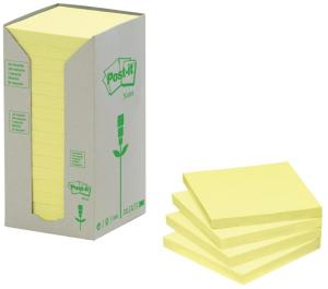 Post-it gele Recycled Tower Pack ft38 x