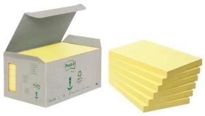 Post-it gele Recycled Tower Pack ft76 x