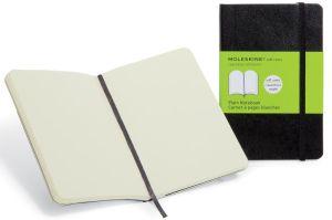 Moleskine notitieboek, 9 x 14 cm, effen,