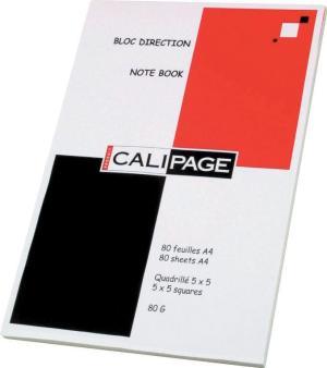 Calipage Notitieboek A4, geruit, 80blz.,