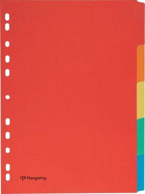 Pergamy tabbladen A4, 11-gaats, karton,
