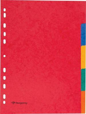 Pergamy intercalaires A4, 11 trous,carto