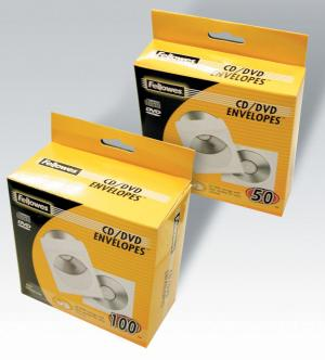 Fellowes 50 cd-omslagen papier