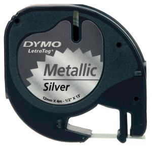 Dymo Letratag tape Metallic 12 mm x4 m,