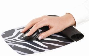 Fellowes Muismat Wrist Rocker zebra