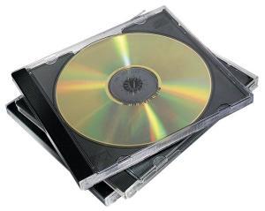 Fellowes CD/DVD-doosje, 10 stuk