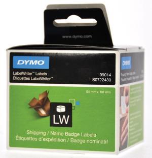 Dymo etiketten 101 x 54mm, 220 perrol, w