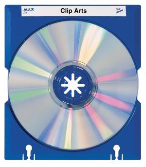 Han Mäx CD/DVD doosjes, 10 stuks, blauw
