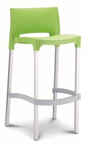 Barstoel Gio stapelbare kruk groen