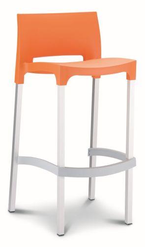 Barstoel Gio stapelbare kruk oranje