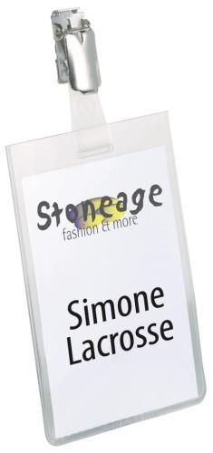 Durable badge met clip ft 90 x 60 mm, ve