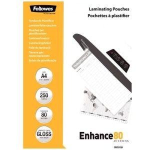 Fellowes lamineerhoezen A4 80 micron Enhance80 (250)