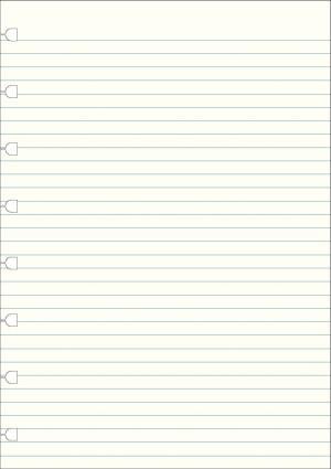Filofax A5 hervulling voor notitieboeken Notes gelijnd papier