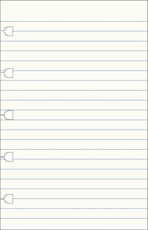 Filofax pocket refill Notes wit gelijnd