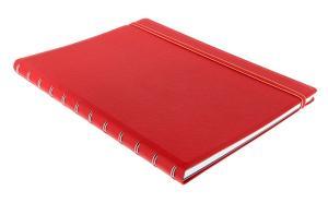 Filofax notitieboek Notes A4 gelijnd rood