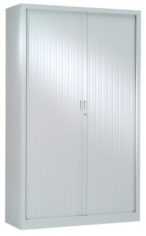 Armoires à rideaux gris clair, hauteur 198 cm | DBS Office Supplies
