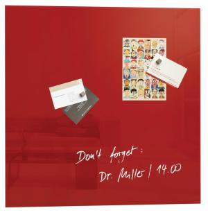 Sigel magnetisch glasbord 48x48cm rood