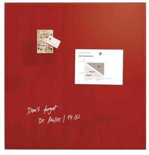 Sigel magnetisch glasbord rood 100x100 c
