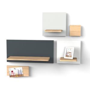 Magneetbord met legplank Marcel 4 Harto leigrijs